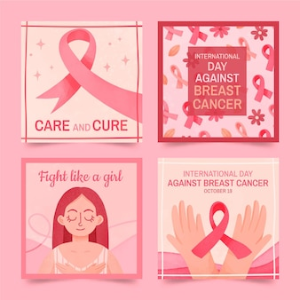 유방암에 대한 수채화 국제의 날 인스타그램 게시물 모음