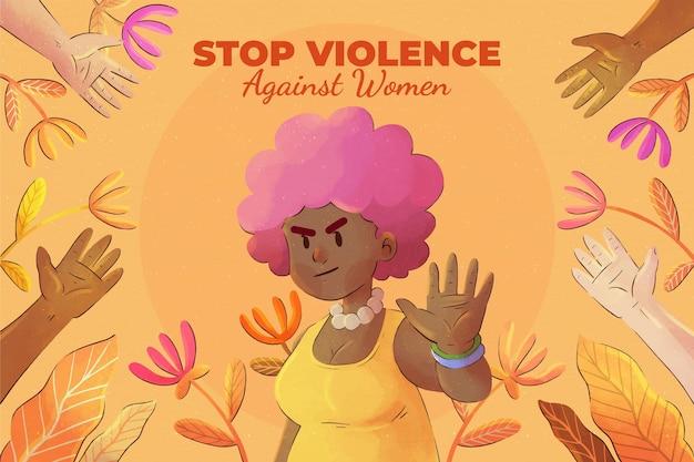 Акварель международный день борьбы с насилием в отношении женщин фон