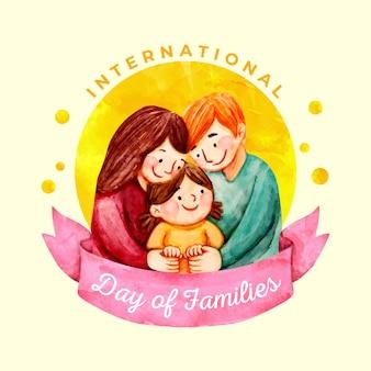 Акварель международный день семей