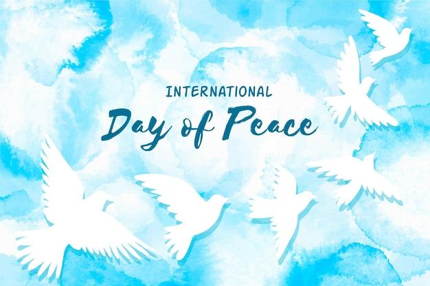 Акварель международный день мира