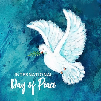Watercolor international day of peace