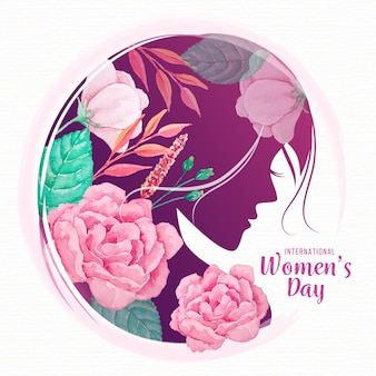 Watercolor international women's day