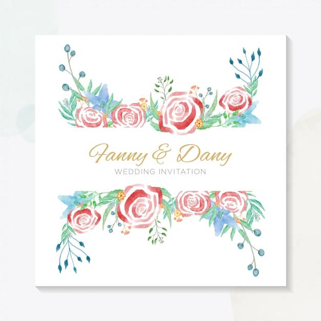 Watercolor invitation wedding party