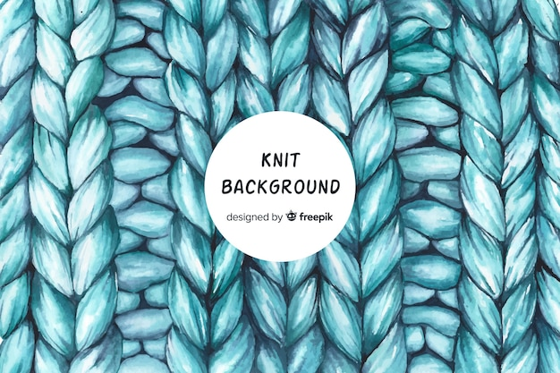 Watercolor knit background