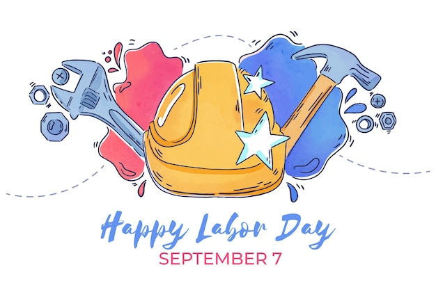 Watercolor labor day
