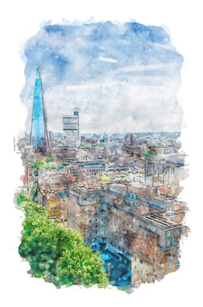 Watercolor landscape artwork watercolor art print digital print