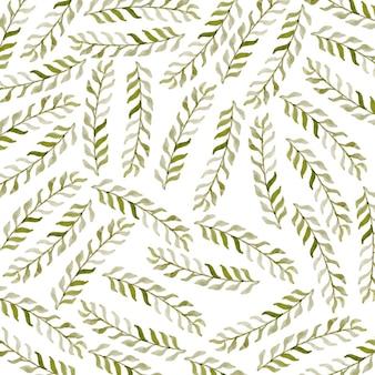Фон акварельных листьев