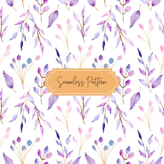 Watercolor leaves pastel seamless pattern
