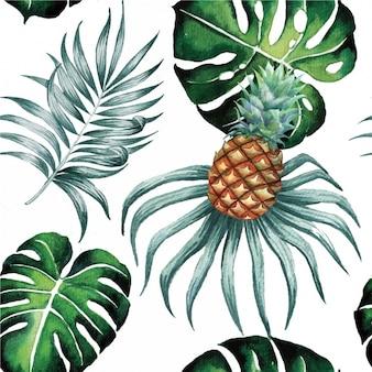 Watercolor leaves pattern design