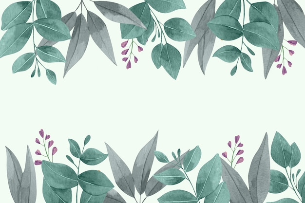 Watercolor leaves wallpaper