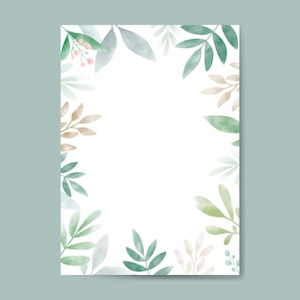 Watercolor leaves with copy space design