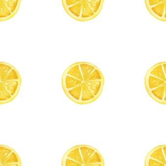 Акварель лимоны на белом фоне. бесшовные модели.