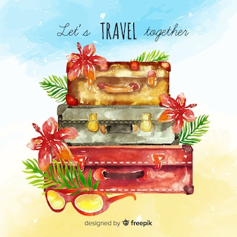 Watercolor lettering travel