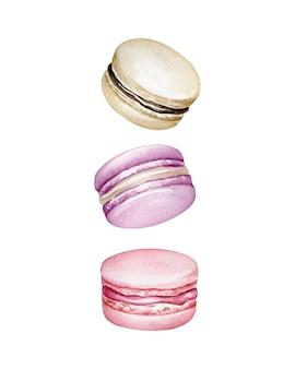 Акварельные миндальное печенье