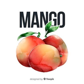 Watercolor mango