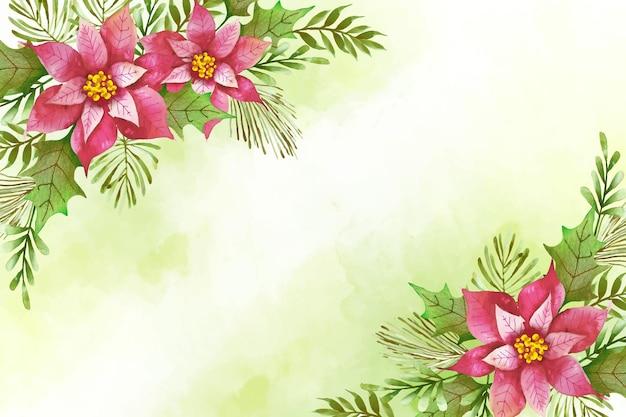 水彩のメリークリスマス背景コンセプト