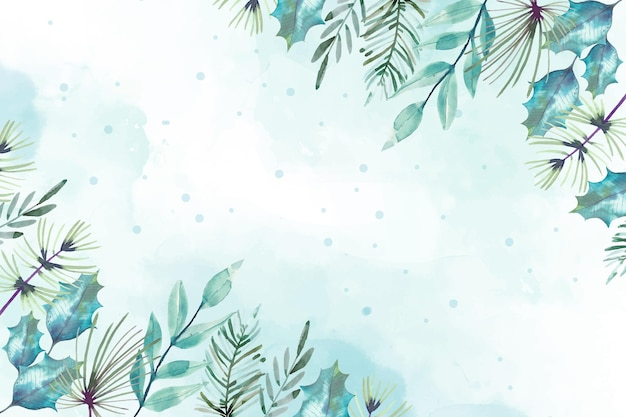 Watercolor merry christmas background design