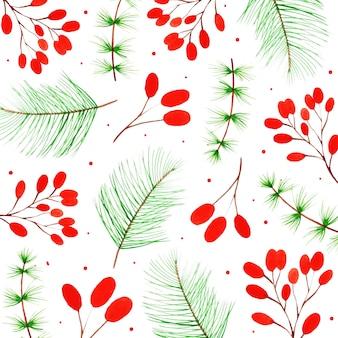 水彩メリークリスマスの背景