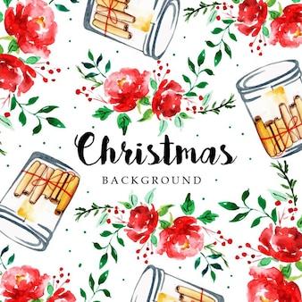 Акварель с рождеством христовым