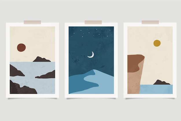 수채화 최소한의 풍경 표지 컬렉션