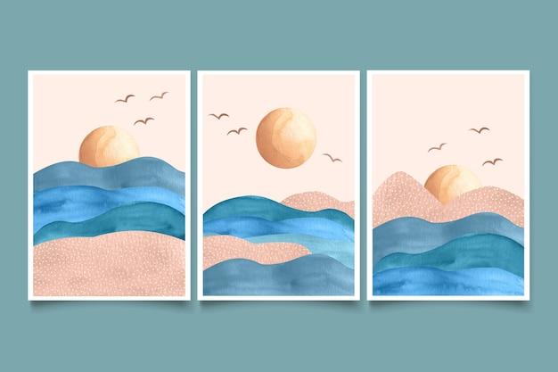 水彩画の最小限の風景カバー