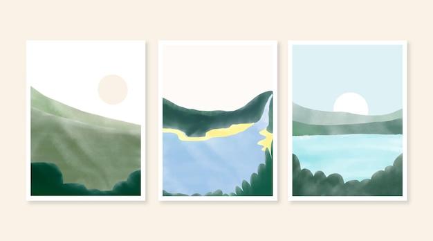 수채화 최소한의 풍경 표지