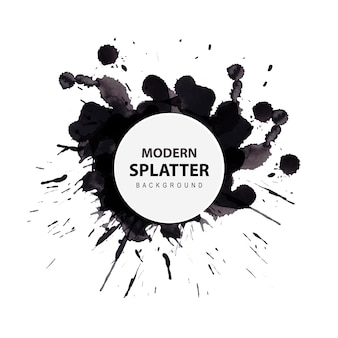Watercolor modern splatter background