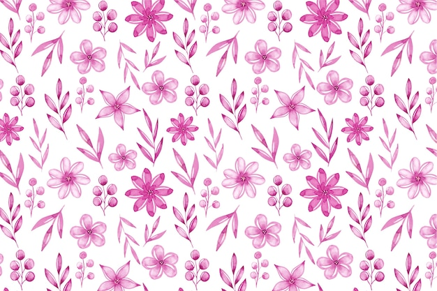Watercolor monochromatic floral background