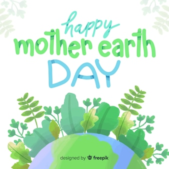 Watercolor mother earth day background