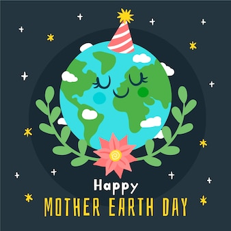 Watercolor mother earth day wallpaper