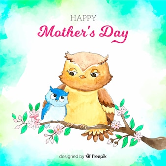 Watercolor mother's day background