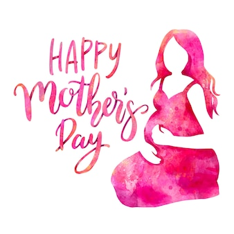 Watercolor mothers day theme