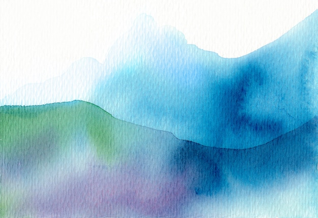 Watercolor mountain abstract texture background