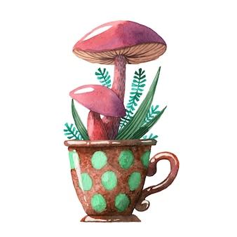Акварельный гриб.