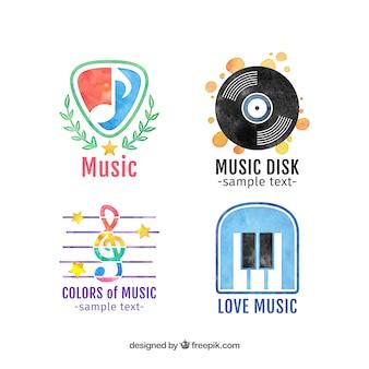수채화 음악 로고