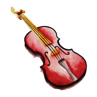 Watercolor musical instrument
