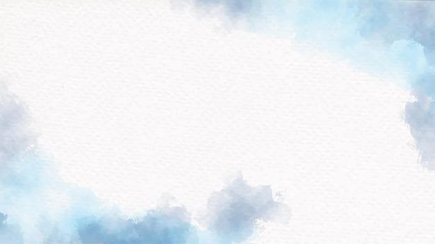 Акварель темно-синяя кисть на текстурированном фоне белой бумаги