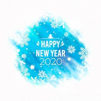 Акварель новый год 2020