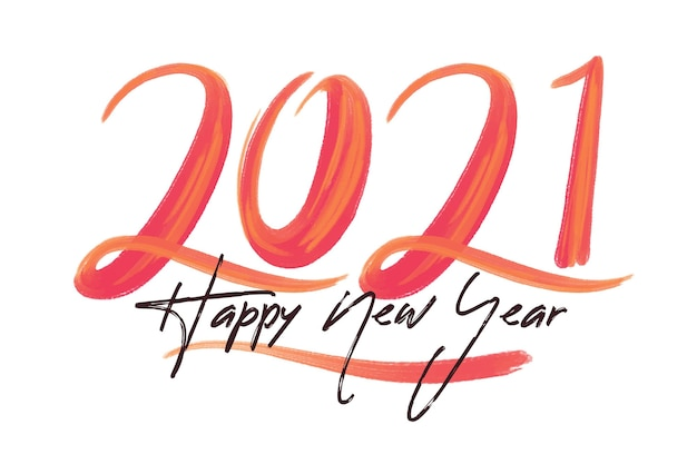 Watercolor new year 2021 background