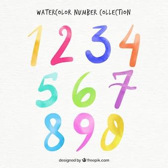Коллекция акварельных номеров