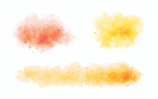 白い背景のベクトル図に水彩
