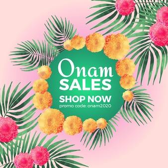 Watercolor onam sales concept