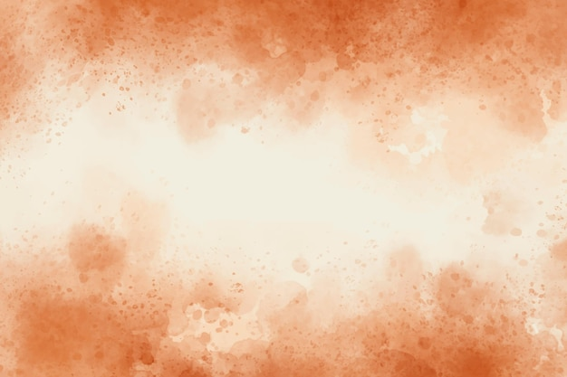Watercolor orange abstract background