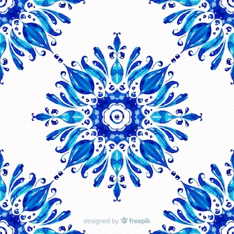 Watercolor ornamental floral background