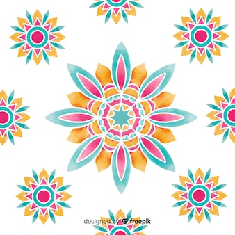 Watercolor ornamental flower background