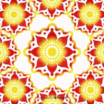 Watercolor ornamental flower background