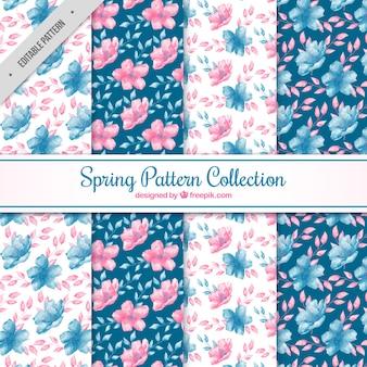 봄 패턴의 수채화 팩