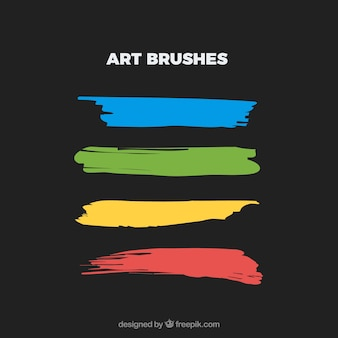 Watercolor paint brushes vector