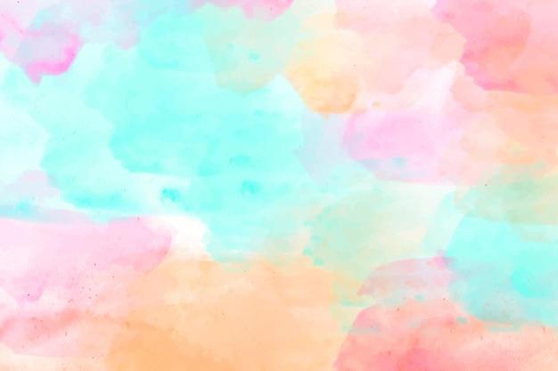 수채화 그린 추상 벽지