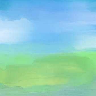 Watercolor painted background of an abstract landscape
